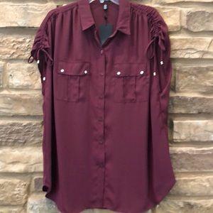 Jones New York button down blouse sleeveless XL